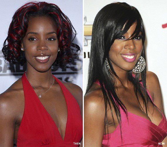 """Sau khi chia tay bạn trai, nữ ca sĩ Kelly Rowland đã quyết định dao kéo để thay đổi diện mạo. Cựu giám khảo X Factor cho biết cô không hề hối hận với quyết định nâng ngực của mình. Điểm mặt sao Hollywood nóng bỏng hơn nhờ """"dao kéo"""""""