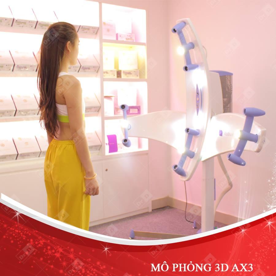 Thẩm mỹ DrD sử dụng máy mô phỏng 3D AX3 cho nâng ngực nội soi