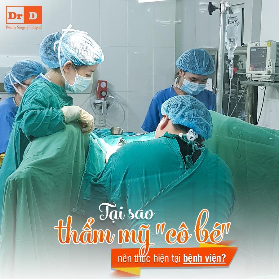 Thẩm mỹ tầng sinh môn được thực hiện trong môi trường khép kín tại bệnh viện