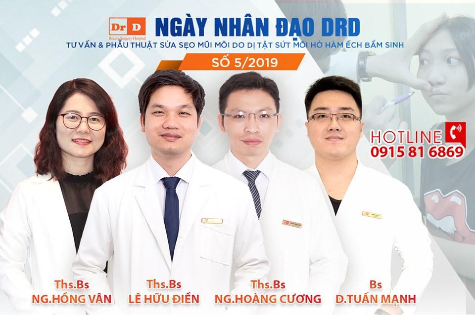 Ngày nhân đạo tháng 5 - DrD hỗ trợ chi phí sửa dị tật sứt môi, hở hàm ếch